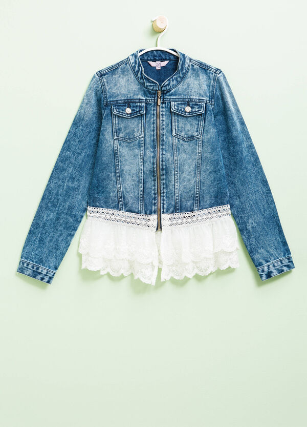 Denim jacket with lace | OVS