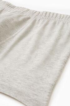 Boxer cotone con vita elasticata, Grigio chiaro, hi-res