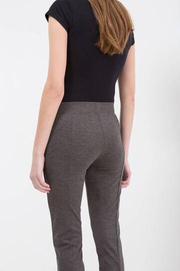 Pantaloni vita alta stretch, Grigio, hi-res