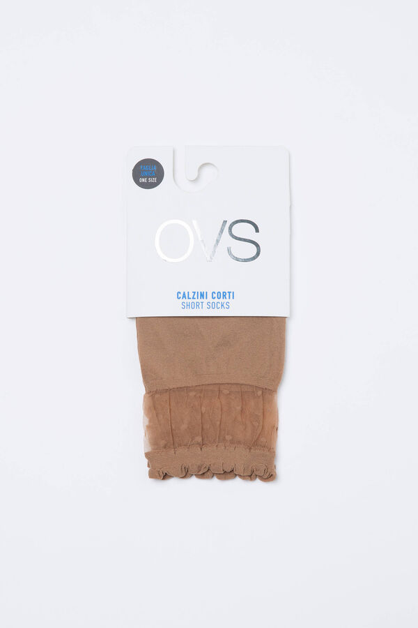 Solid colour short stretch pop socks | OVS