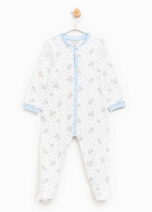 Patterned cotton sleep suit | OVS