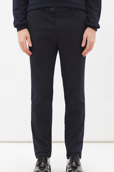 Rumford stretch cotton trousers, Blue, hi-res