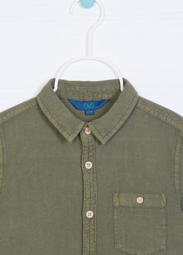 Camicia lino cotone tinta unita | OVS