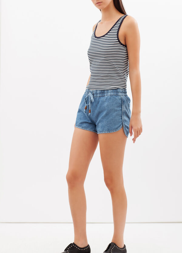 Shorts in jeans con coulisse | OVS