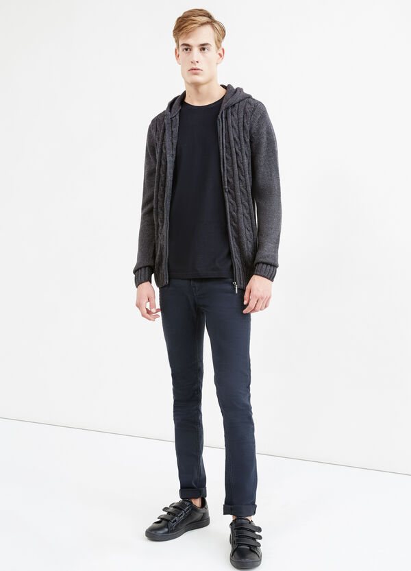Solid colour hooded cardigan | OVS