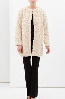 Faux fur coat, Natural, hi-res