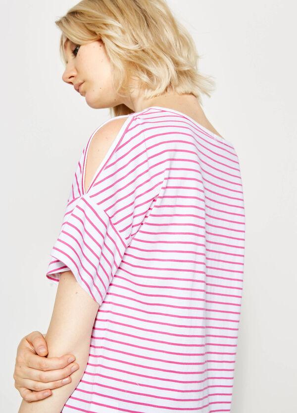 T-shirt girocollo a righe | OVS