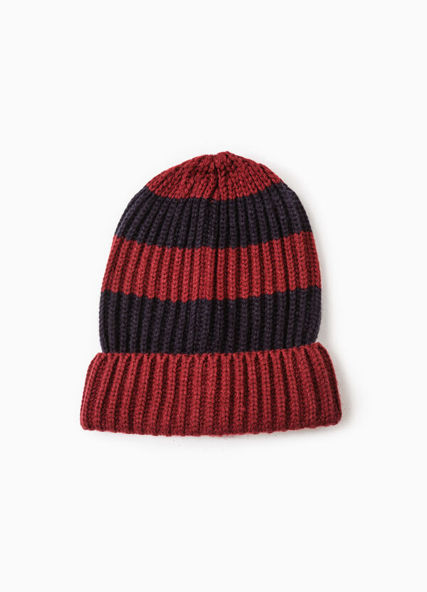 G&H knitted beanie cap with stripes | OVS