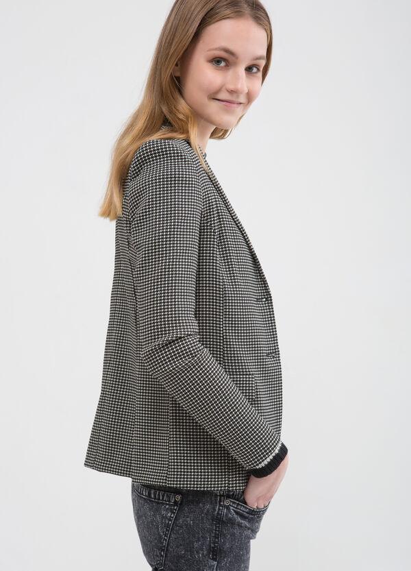 Stretch jacket with geometric pattern | OVS