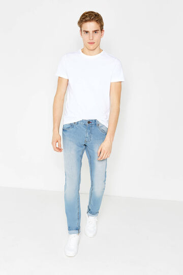 Slim fit, washed and faded-effect jeans