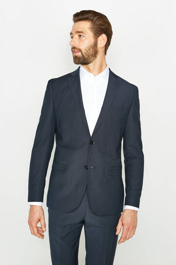Viscose blend, regular-fit dress, Blue, hi-res