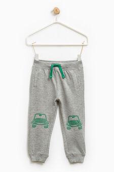100% cotton joggers., Grey Marl, hi-res