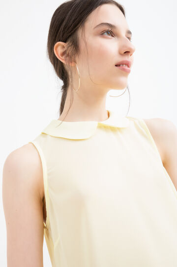 Solid colour sleeveless shirt, Light Yellow, hi-res