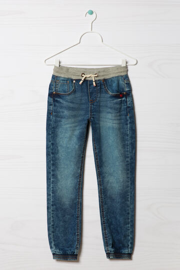 Stretch jeans with drawstring, Medium Wash, hi-res