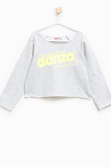 Dimensione Danza sweatshirt with print, Grey Marl, hi-res