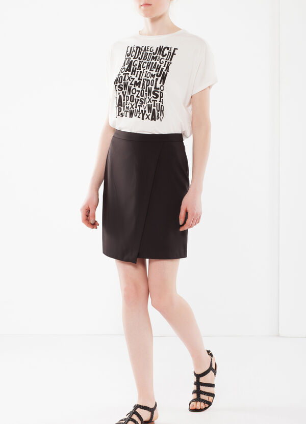 Short, wrap-front skirt | OVS