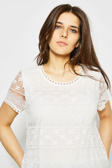 Curvy lace T-shirt with lining