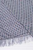 Sciarpa stampa floreale con frange, Blu navy, hi-res