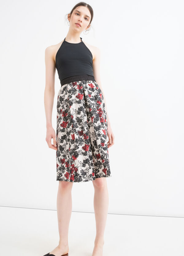 High-waisted skirt with pattern | OVS