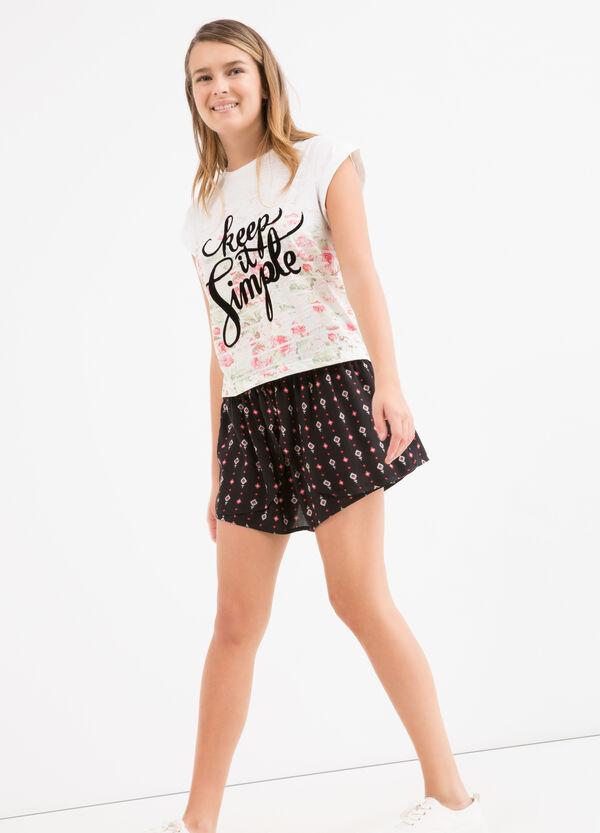 Teen printed culottes. | OVS