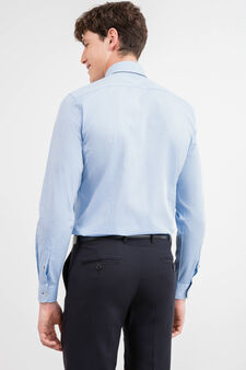 Slim-fit formal shirt with double button-down collar, Soft Blue, hi-res