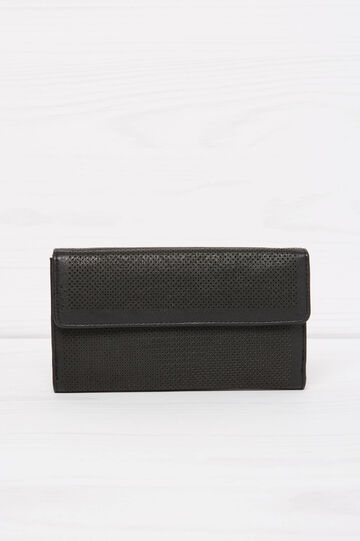Solid colour openwork wallet