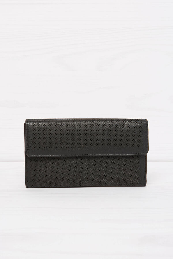 Solid colour openwork wallet | OVS