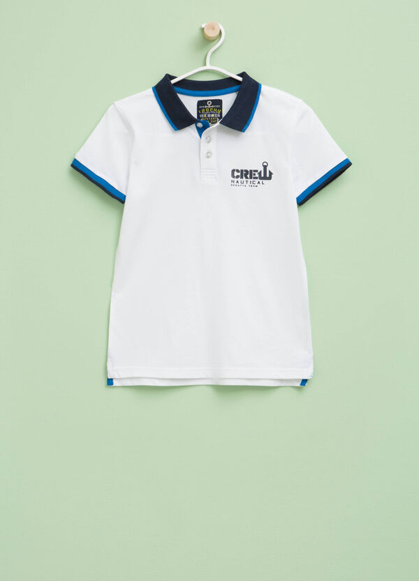 Polo shirt with printed lettering | OVS
