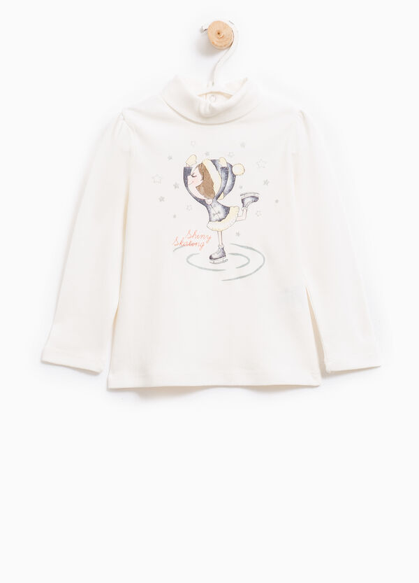 100% cotton T-shirt with high neck | OVS