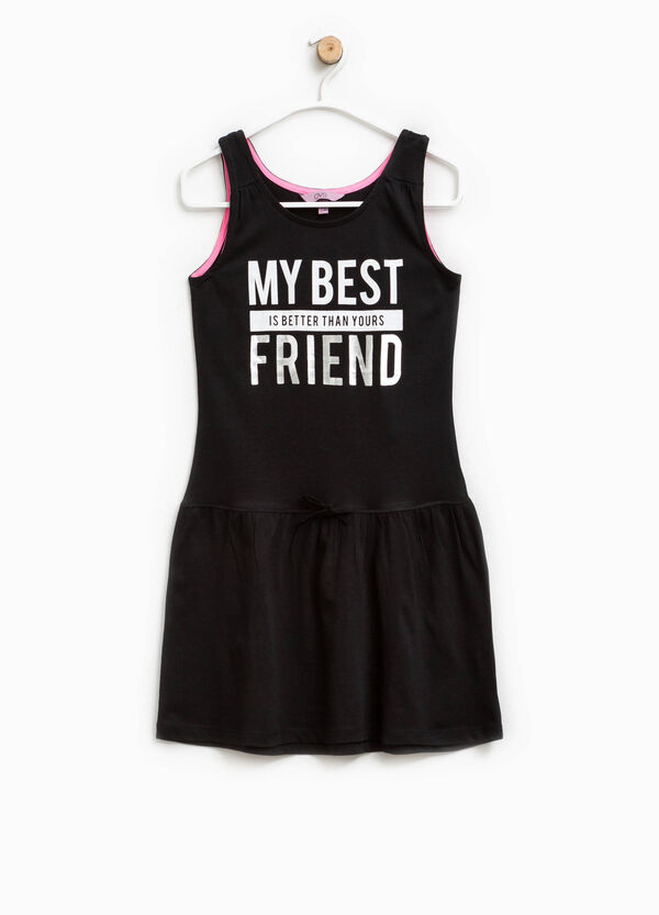 Sleeveless dress with lettering print | OVS