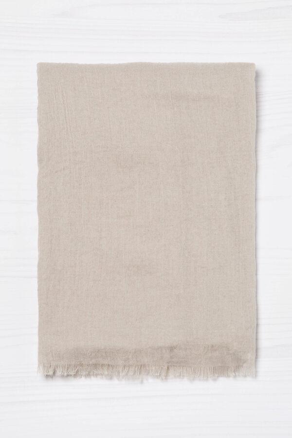 Sciarpa sfrangiata tinta unita | OVS