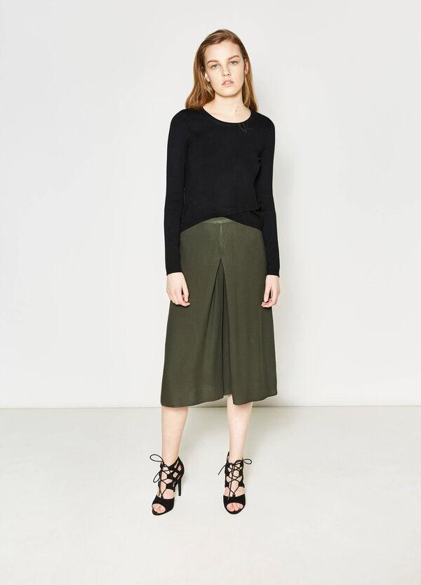 Viscose gaucho trousers | OVS