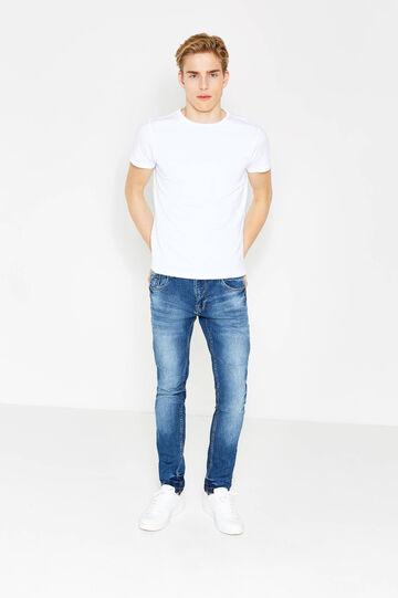 Jeans skinny fit stretch used, Lavaggio medio, hi-res