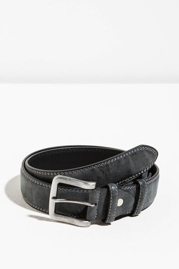 Suede belt with two loops