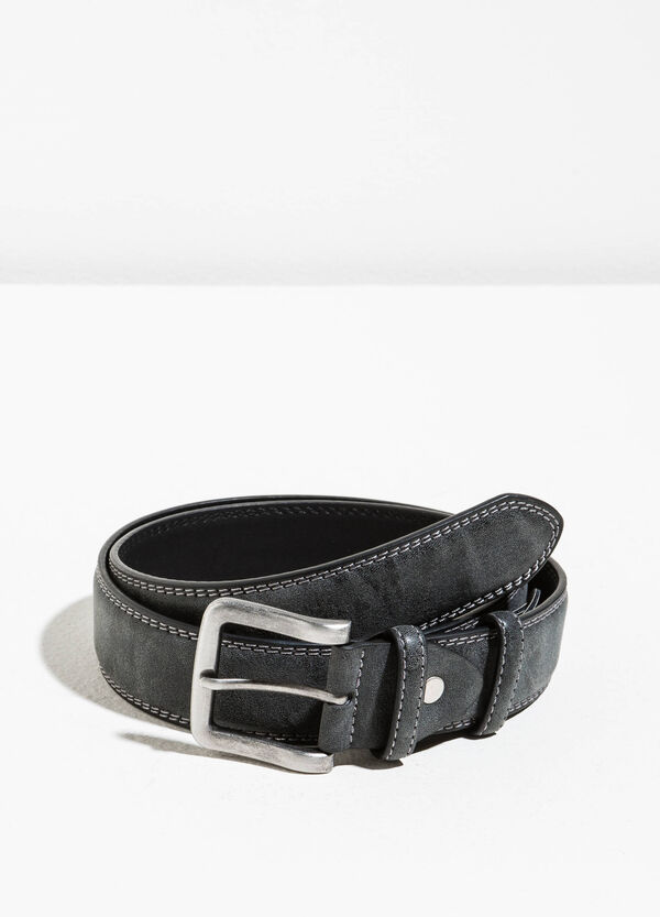 Suede belt with two loops | OVS