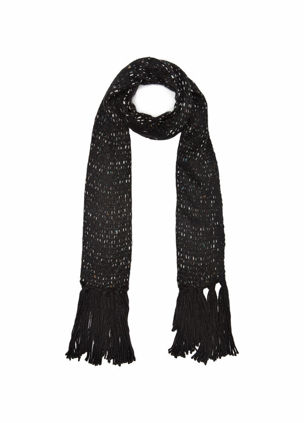 Knitted scarf with inserts | OVS