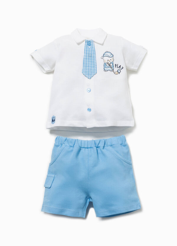 Micro check tie outfit | OVS