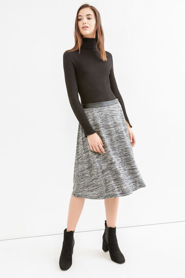 Viscose blend midi skirt, Black, hi-res