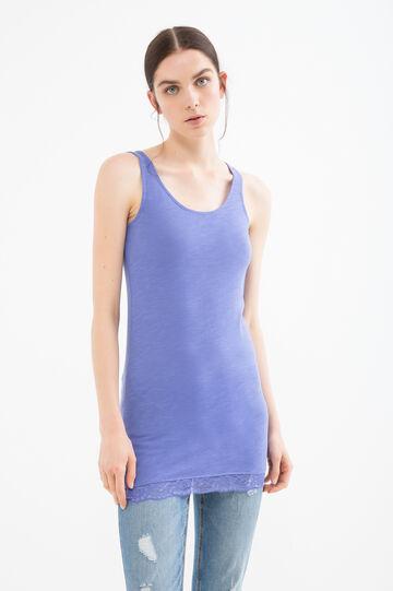 Solid colour 100% cotton vest