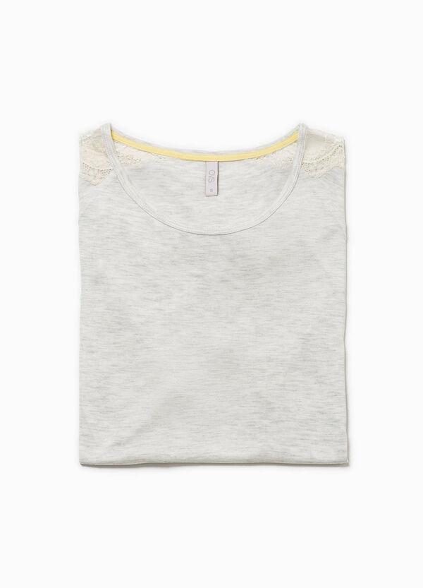 Camiseta de pijama con encaje y cordón de ajuste | OVS