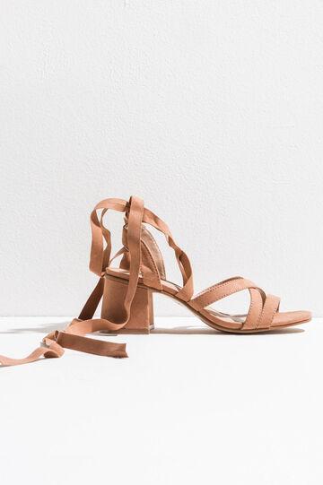 Sandalias con tiras cruzadas en el empeine, Marrón beige, hi-res
