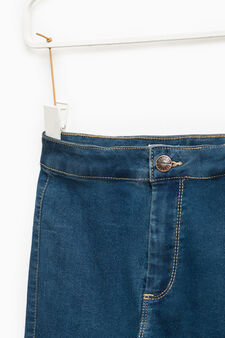 Stretch jeggings with rips, Denim, hi-res