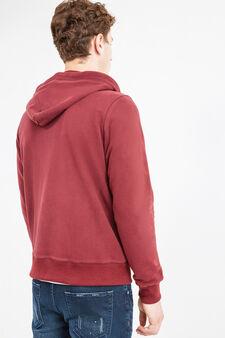 Cotton hoodie, Red, hi-res