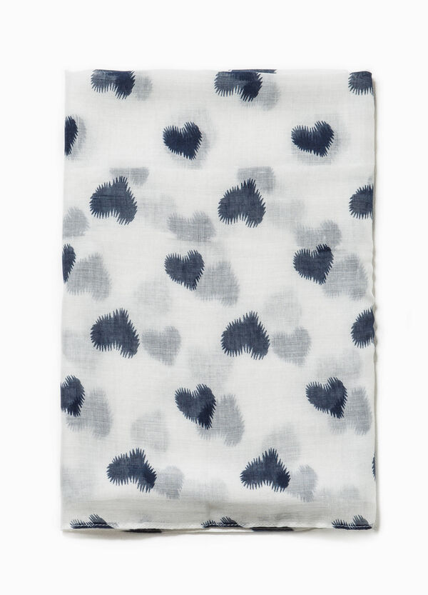 Heart patterned scarf | OVS