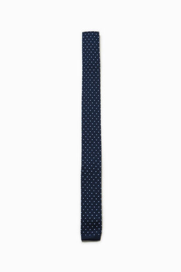 Polka dot patterned tie