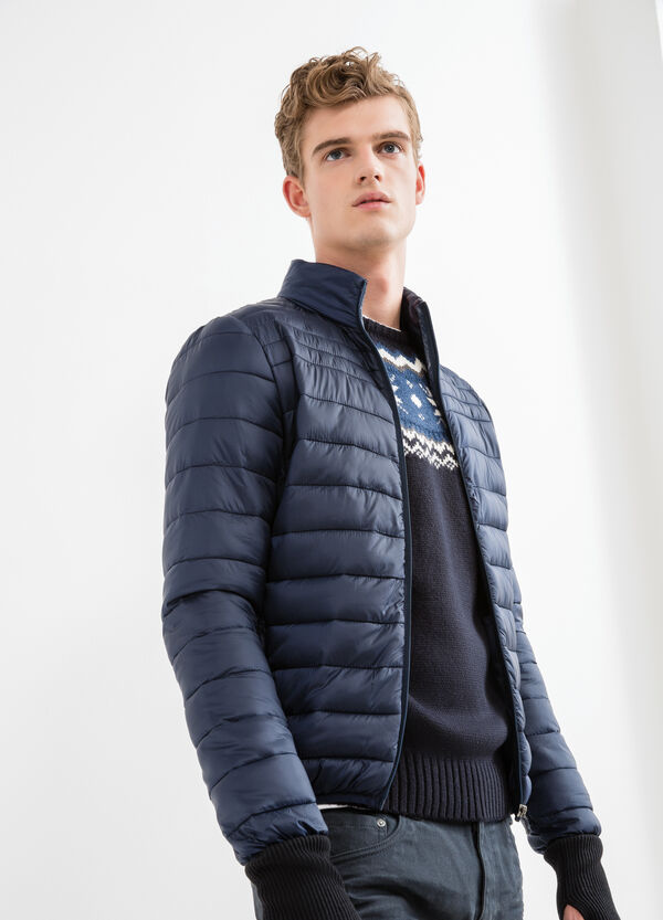 Quilted down jacket with high neck | OVS