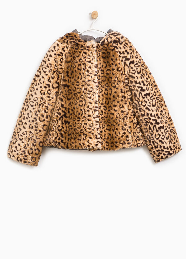 Fur jacket with animal pattern | OVS