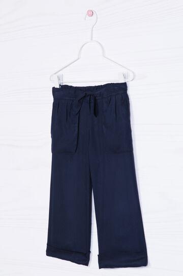 Pantaloni pura viscosa con coulisse