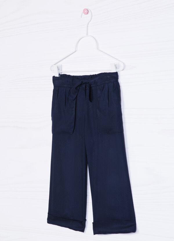 Pantaloni pura viscosa con coulisse | OVS