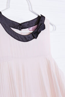 Dress with ruffles and bow, Black/Pink, hi-res